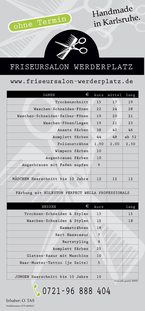 Friseur Südstadt Karlsruhe Preisliste